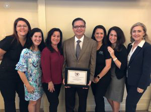 Dr. Fabian A. Ramos recipient of Drug Free Manatee's 2018 Champion of Prevention Healthcare award