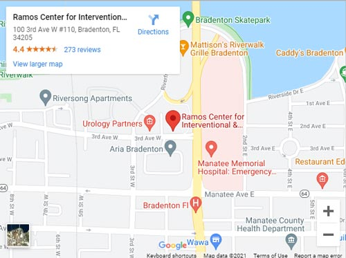 Directions to Pain Clinic in Bradenton, FL