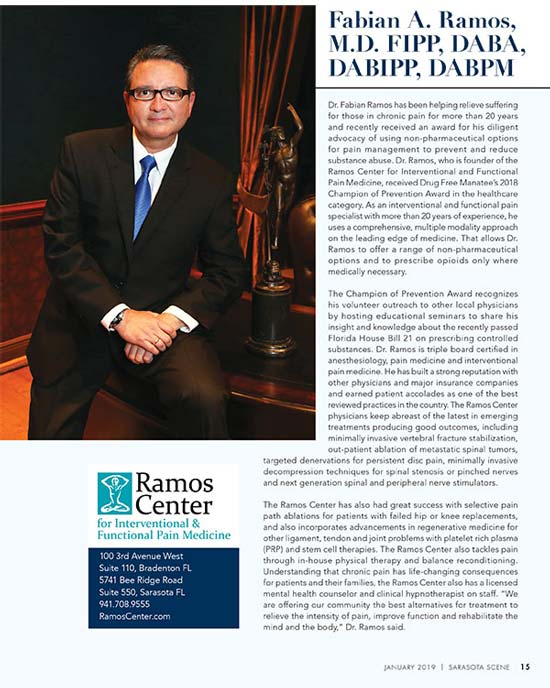 Read about Dr. Ramos January 2019 issue of Scene Magazine