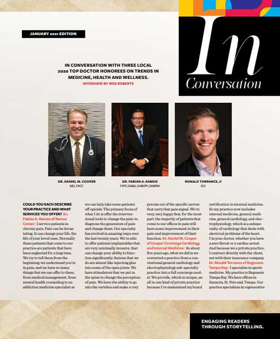 SRQ Magazine's In Conversation with Medical Experts
